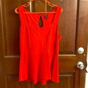 NEW!! TORRID RED EMPIRE WAIST DRESS TANK TOP